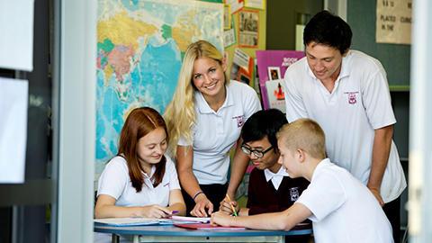 Students at Te Puke High School
