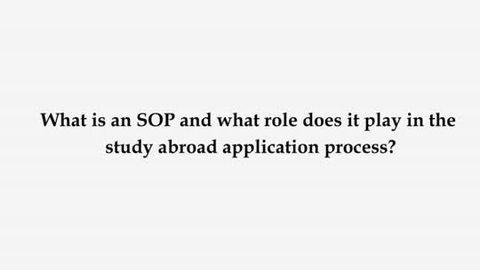 Sop Tips To Study Abroad