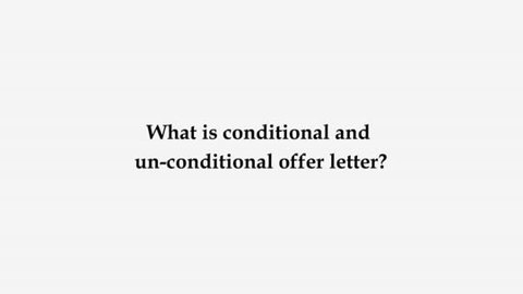 Study Abroad Conditional vs Unconditional offer letter