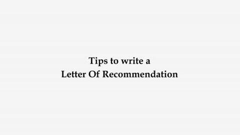Tips to write an lor letter of recommendation to study abroad tips on understanding letter of recommendation spiritdancerdesigns Choice Image